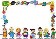 Resultado de imagen para kids school frame
