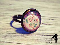 ✿ Flowers ✿ Ring // I ♥ vintage  #vintage #handmade #dawanda