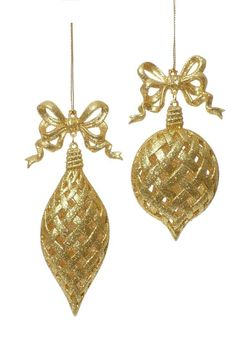1000 images about christmas decorations on pinterest for Small gold christmas ornaments