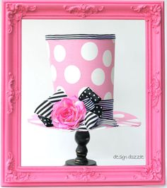 Fabulous DIY: Top Hat Decoration that is easy and fun to make! Will certainly add a pop to your decor!