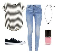 """""""Untitled #2"""" by c-linelb on Polyvore featuring H&M, G-Star, Converse, Kendra Scott and LVX"""