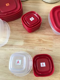 Finally a solution to that crazy tupperware drawer! Try using the TZe or LMe labels that are dishwasher safe and microwaveable on the inside of your lids and bottom of your bowls! Match each size with a letter and a color so you know all of your As go together and Bs and so on!  #brother #ptouch #label #labeling #organization #getorganized #blog #weeklyblog #clean #professional #DIY #kitchen #organizedkitchen #smallbusiness #shopsmall #declutter #nomesses #labeling #ptouchlabels #getitogether