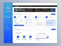 Hey guys!  The feedback on other pieces on this project has been great, thus here's one of the last pieces on it, back-end dashboard for doctors to manage their patients and business.  Let me know ...