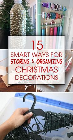 Organic Gardening Ideas Here are some clever ways to detangle, declutter, condense, and protect all your Christmas decorations. - Pro organization tips that will help you store all of your Christmas decor items safely.
