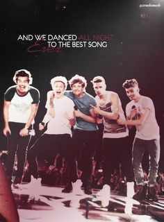 They sang best song ever at tonight's concert!!!!!