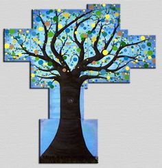 Modern Extra Large Wall Art of Tree of Life by SasperryDesigns
