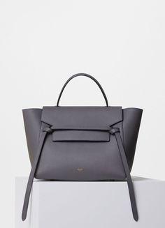 celine belt bag, grey grained