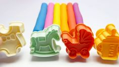 Learn English Colours with Modelling PlayDough Toy Molds Fun & Creative for Kids