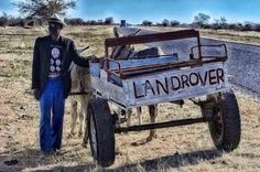 South Africans have a great sense of humour ! South Afrika, Namibia, Childhood Days, Out Of Africa, Mode Of Transport, African Culture, My Land, Land Rover Defender, Defender 90