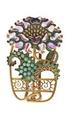Poppy Belt Buckle   Eugene Grasset for House of Vever (Paul and Henri) c1900