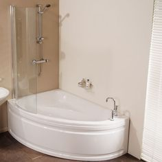 Image result for shower over corner baths with seat