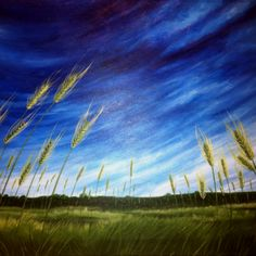 Wheat field painting - newly finished