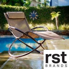 RST Orbital Zero Gravity Patio Lounger Rocking Chair | Overstock™ Shopping - Great Deals on RST Brands Chaise Lounges