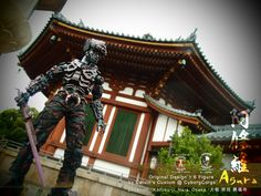 "Calvin's Custom at Cyborgcorps 1:6 one sixth scale Original Design custom  ""Anatta 無我""  and  ""Asura 阿修羅"" figures overseas on location shoot at Kōfukuji 興福寺, Nara 奈良  Osaka, Japan.  Kofukuji (興福寺, Kōfukuji) used to be the family temple of the Fujiwara 藤原氏, the most powerful family clan during much of the Nara and Heian Periods. The temple was established in Nara at the same time as the capital in 710. At the height of Fujiwara power, the temple consisted of over 150 buildings."