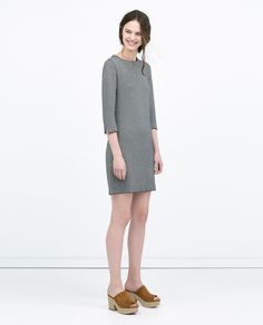 ZARA - NEW THIS WEEK - MICRO JACQUARD A-LINE DRESS