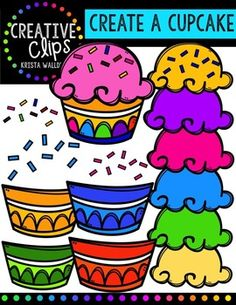 This freebie is full of cupcake pieces so you can create many styles of cupcakes! Included are cupcake tops, bottoms and sprinkles in a variety of colors!I would love and appreciate your feedback! Thank you!The images will have high resolution, so you can enlarge them and they will still be crisp.