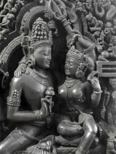 Shiva and Parvati ---  symbols of male and female union