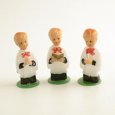 3 Vintage Christmas Decorations Choir Boys by efinegifts on Etsy, $6.95