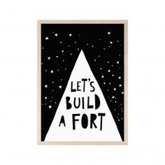 Mini Learners Let's Build A Fort Poster - A3