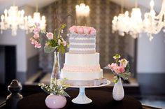 gray and pink wedding | grey+and+pink+cake+wedding.jpg