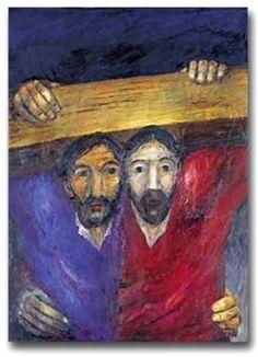 Sieger Koder (Camino a la cruz)    Jesús es sentenciado a muerte     Jesús carga con la cruz     Jesús cae por primera vez      Jesús se en...