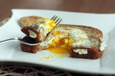 Egg in a Hole for Breakfast