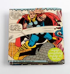 Thor  Avengers Comic Portemonnaie vegan upcycling von Hunkepunk
