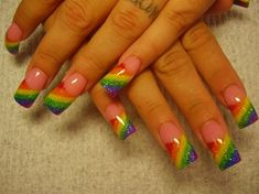 cool rainbow by Oli123 from Nail Art Gallery