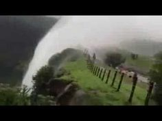 Reverse waterfall at Sinhagad Pune , India : due to wind pressure... nature is really great. ...