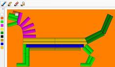 Dinosaur made with math manipulatives apps.  Free at http://helpyourchildsucceed.blogspot.com