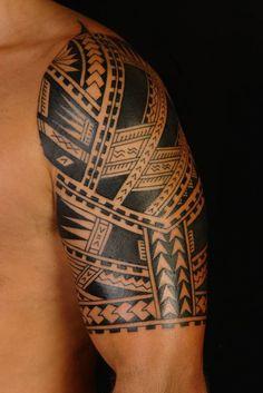 imagen de tatuaje maori estilo samoano