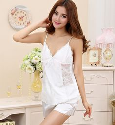New, on sale at DollarBender.Com  Ladies Silk Satin...     http://www.dollarbender.com/products/ladies-silk-satin-and-lace-pajama-set-v-neck-sleepwear?utm_campaign=social_autopilot&utm_source=pin&utm_medium=pin  #fashion #jewelry #accessories #style #beauty #follow #sale