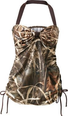 Cabela's: Realtree Girl® Women's Bandeaukini Swim Top....NEED! Haha @laurenjanepouw! Reminds me of you!