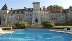 The pool at Chateau de Fere...my children loved swimming here....