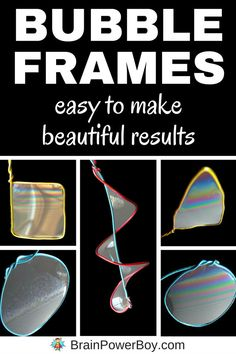 Try this easy to make bubble frame project that kids will really love. It is fun to watch the bubble colors moving and swirling. Includes a super bubble recipe that is prefect for this activity. Summer Activities For Kids, Science For Kids, Science Activities, Science Projects, Bubble Activities, Kids Fun, Play Based Learning, Fun Learning, Bubble Recipe