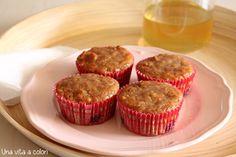 Muffin alla banana con miele e noci