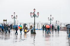 a rainy day in Venice