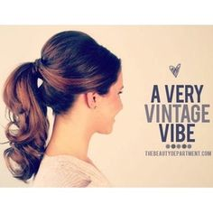 50's hair pony - wedding shower? Em, your hair could handle this!