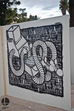 Graffiti en directo.