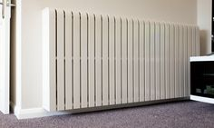 The home of cool bespoke designer radiator covers. The stylish, elegant & intelligent radiator cover solution. Painted Radiator, Air Conditioner Cover, Designer Radiator, Radiator Cover, Wooden Flooring, Real Wood, Radiators, Diy Projects, Home Appliances