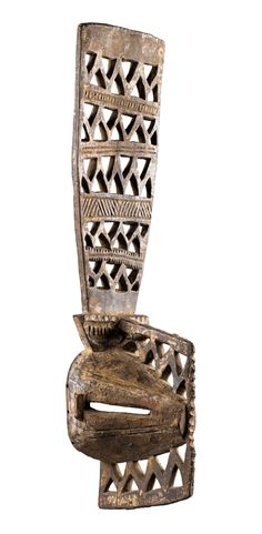 """Africa   Mask """"oba maoro"""" from the Afikpo Igbo people of Nigeria   Wood, remains of polychrome paint"""
