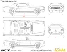 The-Blueprints.com - Blueprints > Cars > Ford > Ford Mustang GT ...