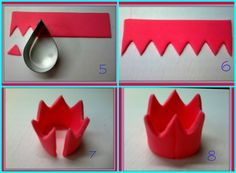 Cuppycakes & more .: How to Make Crown Cupcake Toppers - Chiose Lee - # . - decorate cake - Cuppycakes & more .: How to Make Crown Cupcake Toppers - Chiose Lee - # . Fondant Cupcakes, Fondant Crown, Fondant Tips, Fondant Tutorial, Fondant Toppers, Making Fondant, Crown Cake, Pink Cupcakes, Deco Cupcake