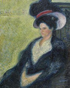 Richard Gerstl 1883 - 1908, Lady with hat, Oil on canvas ,98.7 by 79.3 cm, circa 1906.