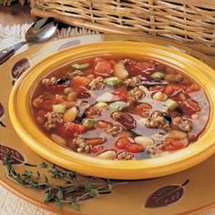 Mixed Bean Soup Recipe- Recipes Guests and family alike praise this soup and always ask for seconds. The nicest thing about it is that any variation of dry beans can be used. Bean Soup Mix Recipe, Bean Soup Recipes, Recipe Mix, Healthy Soup Recipes, Crockpot Recipes, Cooking Recipes, Cooking Pumpkin, Cooking Pork, Cooking Turkey