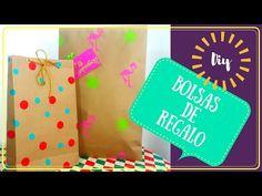 ¿CÓMO HACER BOLSAS DE REGALO? |  HAZ TU PROPIO PAPEL DE REGALO - YouTube