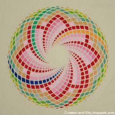 Sacred Geometry / Torus / by Sarjana Sky, via Flickr Op Art, Tatto Ink, Mandala Doodle, Graph Paper Art, Magic Squares, Sacred Geometry Tattoo, Sacred Architecture, Spirograph, Flower Mandala