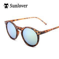 2016 Hot Sunlover Brand Designer Round sunglasses Women Multicolor Mercury Mirror sun glasses Vintage Style Female oculos shades #Shopping #Beauty #PlusSize #CLOTHING and #Plussizefashion at cheapplussizeboutique.com