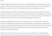 essay on my favourite festival christmas