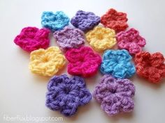 ▶ Episode 36: How to Crochet a One Round Flower - YouTube